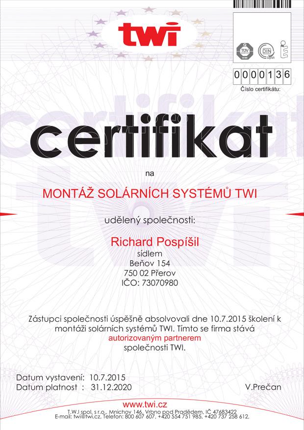 Certifikaci o profesní kvalifikaci